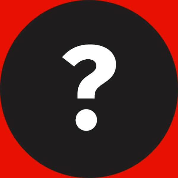 Weißes Fragezeichen auf schwarzem Hintergrund
