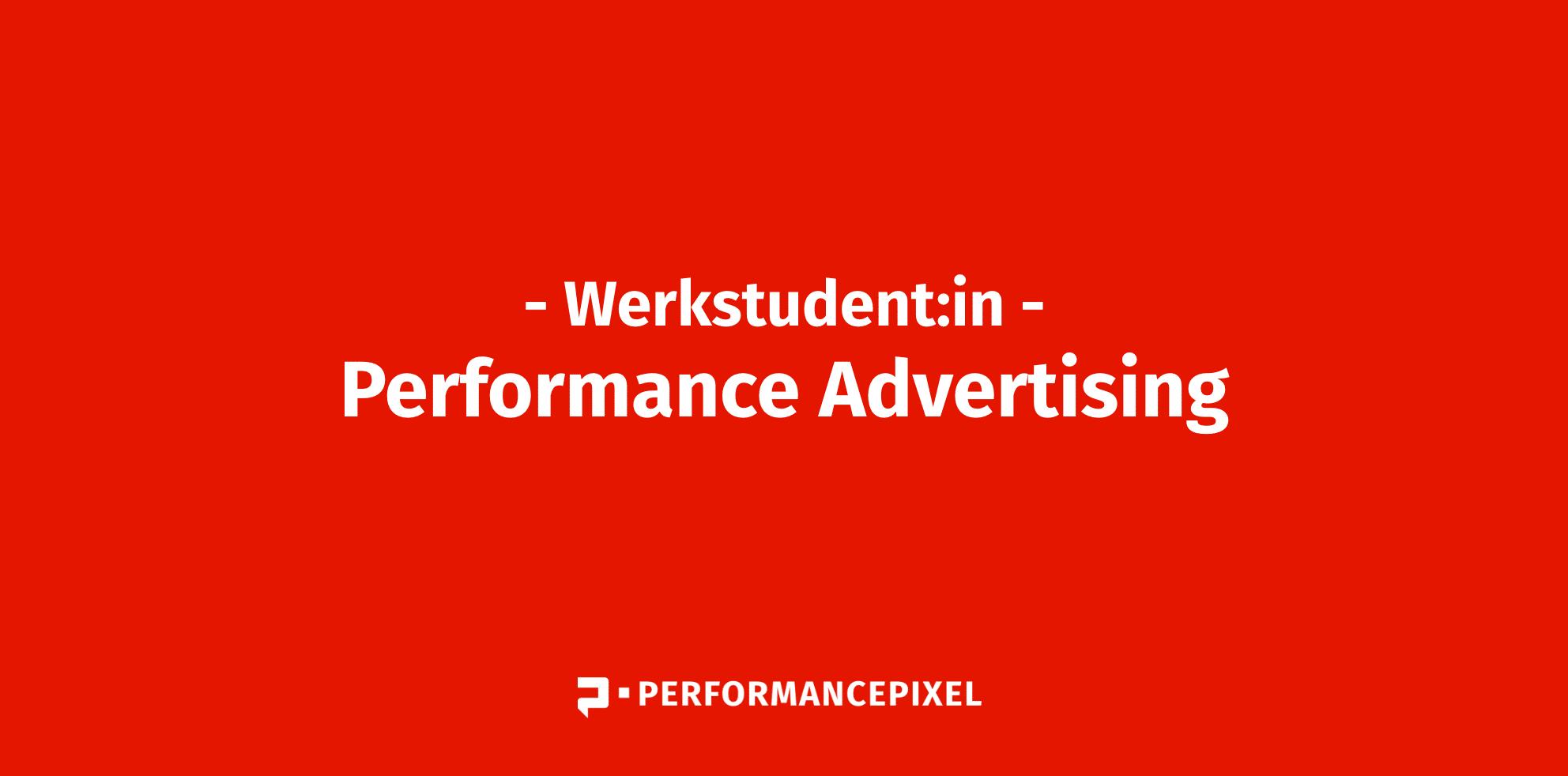 Werkstudent:in Performance Advertising